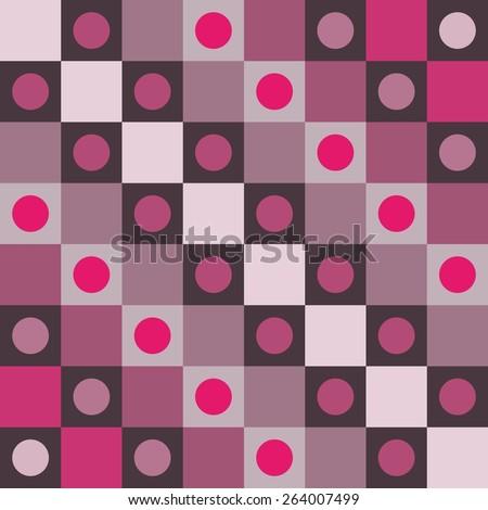 Abstract smoky pink polka dot op art background - stock vector
