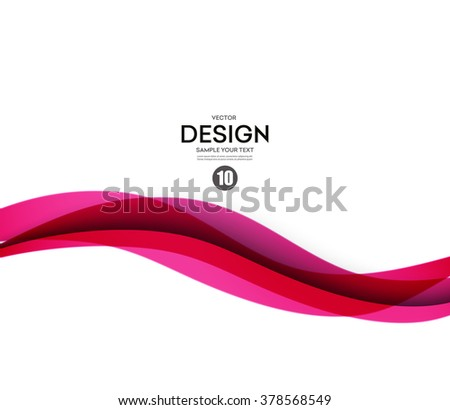 Abstract smooth color wave vector. Curve flow pink motion illustration - stock vector
