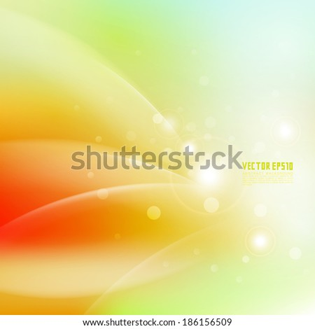 Abstract smooth fresh orange flow background, Vector illustration  - stock vector