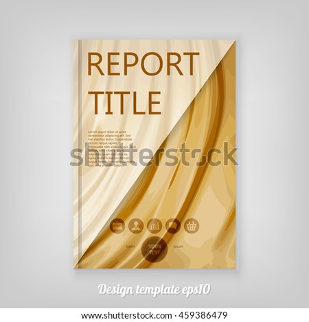 Abstract smooth golden cover design with triangular polygons, Brochure Design. Cover, Corporate Leaflet Template - stock vector