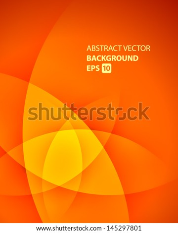 Abstract smooth light lines vector background - stock vector