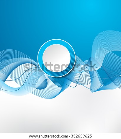 Abstract smooth twist light lines vector background. Design layout template - stock vector