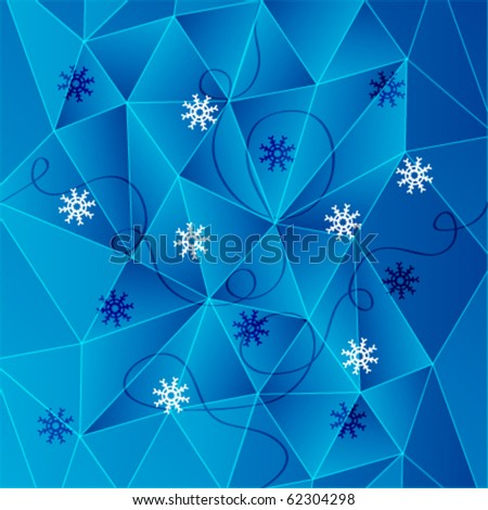 Abstract snow pattern. Ice vector. - stock vector