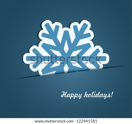 Abstract snowflake background. EPS10 vector - stock vector