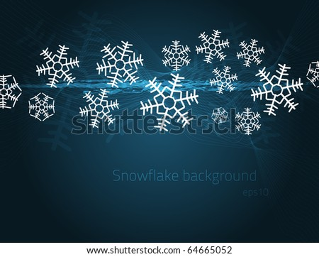 Abstract snowflake background for your design. Fully vector, enjoy! - stock vector