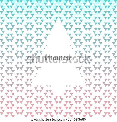 Abstract snowflake pattern background with christmas tree vector stock eps 10 illustration - stock vector