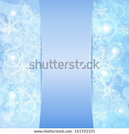 abstract snowflakes texture - stock vector