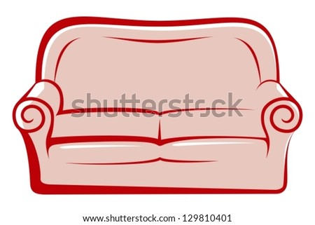 abstract sofa - stock vector