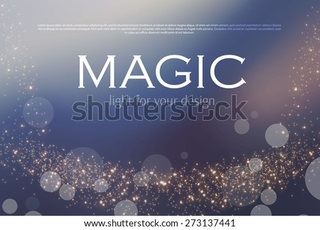 Abstract soft bokeh background. Vector illustration - stock vector