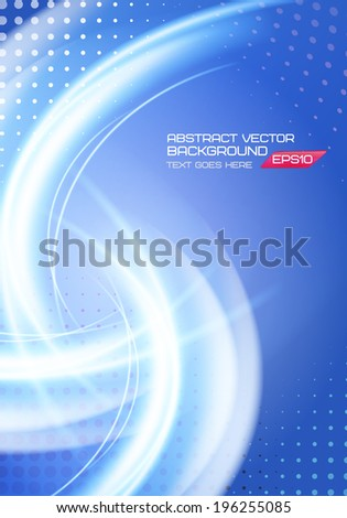 Abstract soft waves light lines vector background