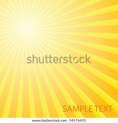 Abstract solar background. Vector illustration - stock vector