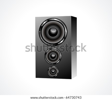 abstract sound box icon vector illustration