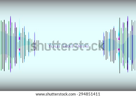 abstract sound waves. Audio equalizer technology, pulse musical. vector illustration - stock vector