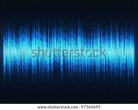 Abstract sound waves equalizer - stock vector