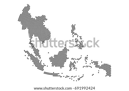 Abstract southeast asia map radial dot stock vector hd royalty free abstract southeast asia map radial dot stock vector hd royalty free 691992424 shutterstock gumiabroncs Choice Image