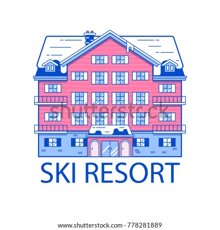 Mountain line stock images royalty free images vectors for Ski design hotel