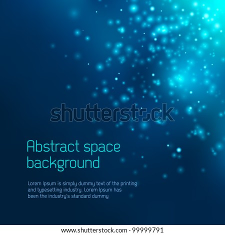 Abstract space background - stock vector