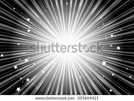 Abstract space background vector blast - Vector burst of stars abstract illustration - stock vector