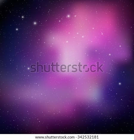 Abstract Space background. Vector bright colorful cosmos illustration. Night sky. Colorful Universe filled with stars. Colorful Cosmic Background with Light, Shining Stars. Space vector background. - stock vector