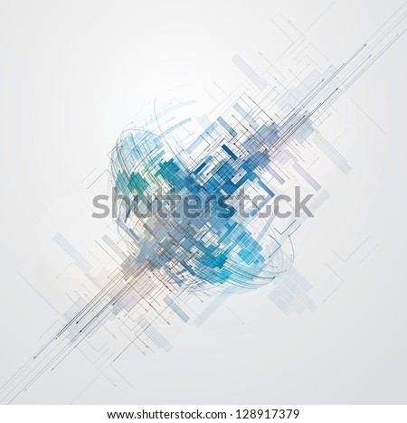 abstract space computer cyber high technology business background - stock vector
