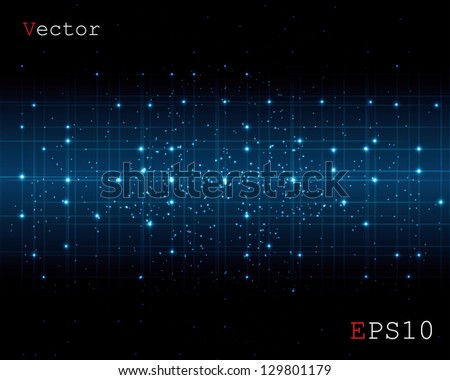abstract space of a digital background - stock vector