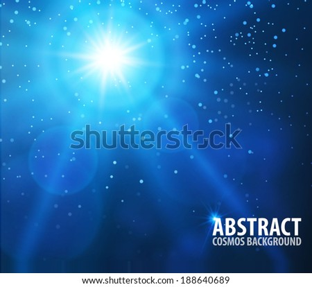 abstract space & star background. Vector illustration - stock vector