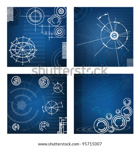 abstract space vector background. Eps 10 - stock vector