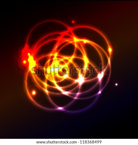 Abstract space, vector technical drawing, shiny space background eps10