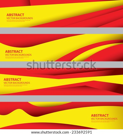 Abstract Spain Flag, Estonian Spanish Colors, Info graphics Background (Vector Art) - stock vector