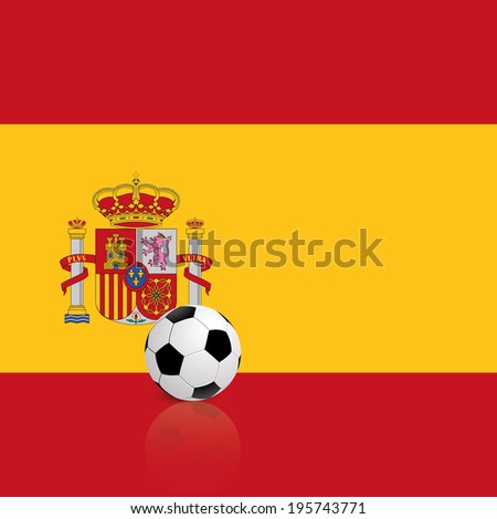 abstract Spain flag with a soccer ball