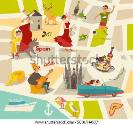Map Of Spain Stock Images, Royalty-Free Images & Vectors ...