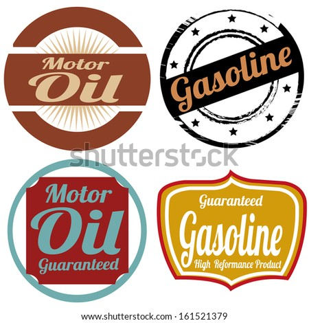 abstract special oil industry label on white background