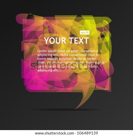 Abstract speech bubble - stock vector