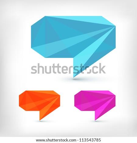 Abstract speech bubble - stock vector