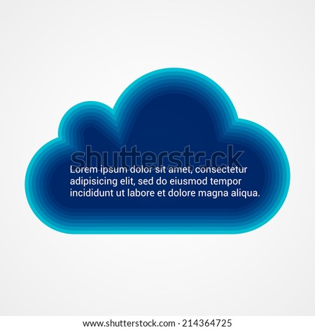 Abstract speech bubble. Cloud icon. Vector illustration.