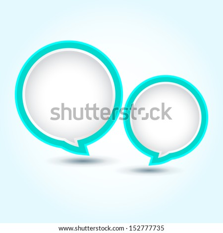 Abstract speech bubble / Colorful glossy speech bubble / Vector speech bubble ( vector background ) EPS 10  - stock vector