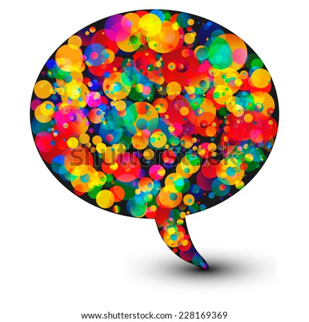Abstract speech bubble illustration