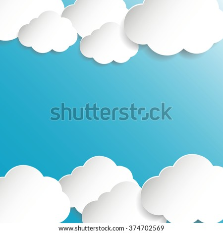 Abstract speech bubbles in the shape of clouds - stock vector