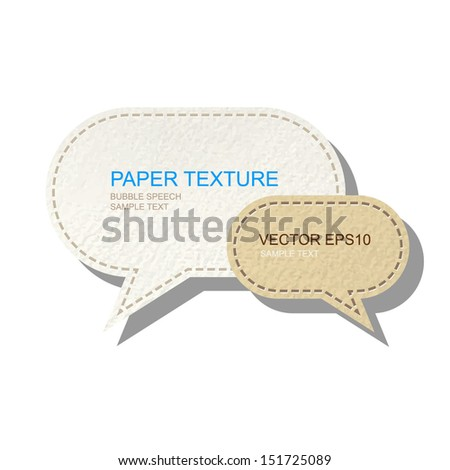 Abstract speech bubbles paper background on white - Vector illustration - stock vector