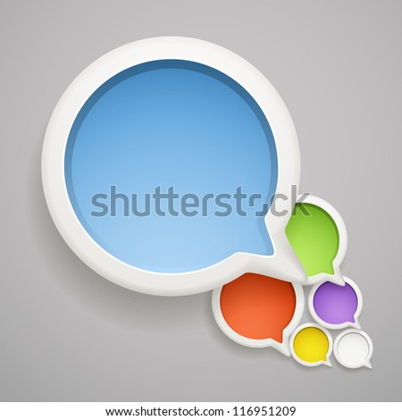 Abstract speech cloud of color bubbles. Ready fo���ª a text - stock vector