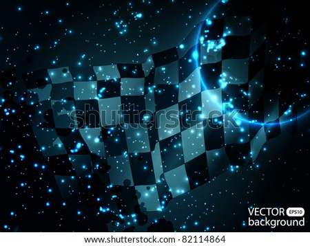 Abstract speed background - stock vector