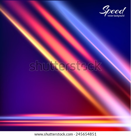 Abstract speed light background. Vector eps10. - stock vector