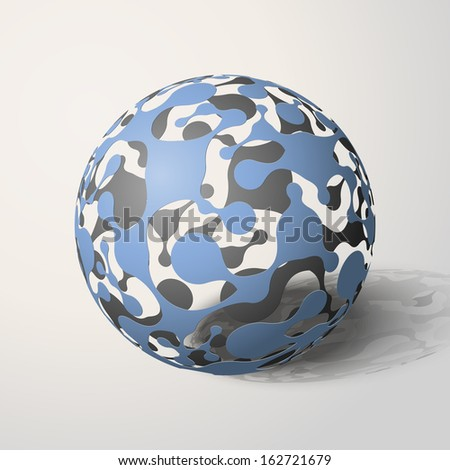 Abstract sphere, Molecular compounds, Metaball, Vector