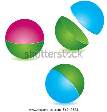Abstract sphere. vector illustration - stock vector