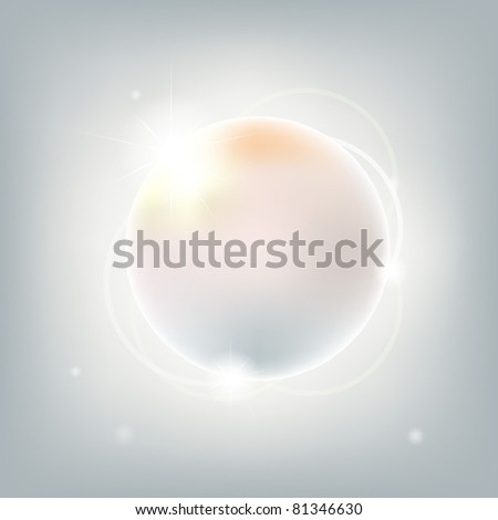 Abstract Sphere With Stars, Vector Illustration - stock vector
