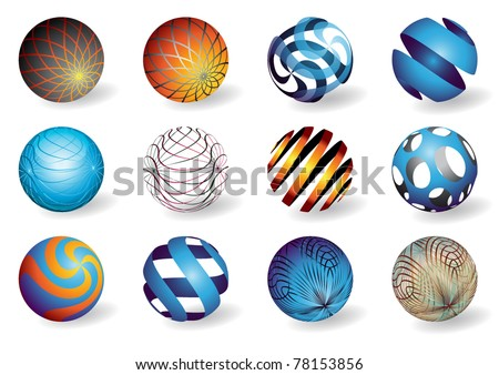 Abstract spheres - stock vector