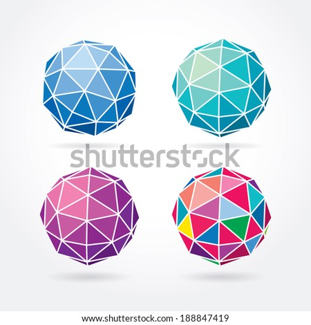 Abstract spheres vector illustration. - stock vector
