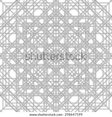 Abstract Spider Web Construction Structure Vector 336 - stock vector