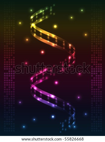 Abstract spiral - colored vector background - stock vector