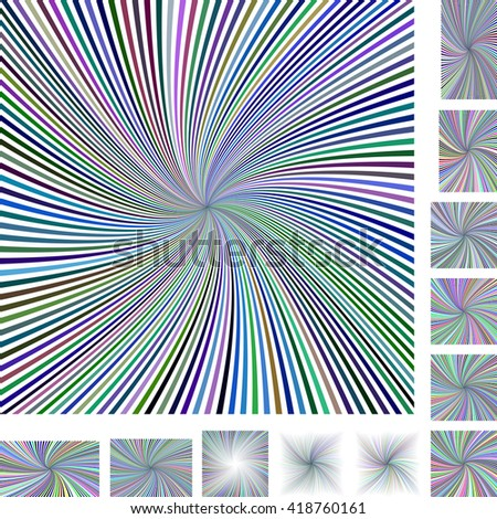 Abstract spiral design background set. Different color, screen, paper size versions. - stock vector